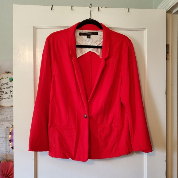 Red Kensie knit Blazer XXL